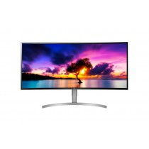 "Monitor LG 37.5"", 38WK95C-W, 3840x1600, LCD LED, IPS, zakrivljen, 5ms, 178/178o, HDMI 2x, DP, Lift, Zvučnici, bijela, Freesync, 36mj"