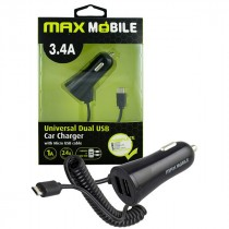 USB punjač 12-24V DC -> 5V DC Type-C USB + 2x USB A, 3.4A, CC-D016