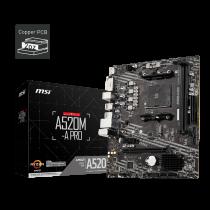 MB MSI A520M-A PRO, AM4, micro ATX, 2x DDR4, AMD A520, 36mj (7C96-001R)