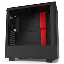Kućište NZXT H510 Black/Red, crna, ATX, 24mj (CA-H510B-BR)