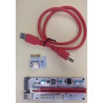 VGA Riser card PCIe x1 -> PCIe x16, ver 008s, USB3.0 cable, 12mj (PCE164P-N04)
