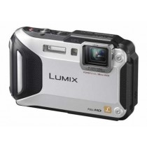 "Panasonic DMC-FT5EP-S, srebrna, 16.1Mpx, Power O.I.S., 4.6x opt. 28-128mm f3.3-5.9, 3"" LCD,  ISO 3200,  Video FullHD, Baterija LiIon, GPS, Podvodan 13m, Niske temp. -10ºC, Pad s vis. 2m, 24mj"