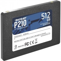 "SSD Patriot 512GB crna, P210, P210S512G25, 2.5"", SATA3, 36mj"