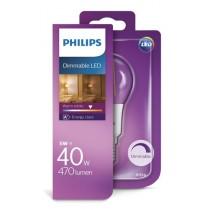 Philips Žarulja P45 E14 LED, 5W, 470lm, 2700K, zatamnjiva, Kruška, (929001227401)