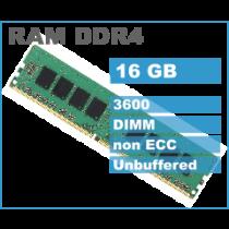 DDR4 16GB (1x16GB), DDR4 3600, DIMM 288-pin, 36mj