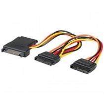 Kabel za SATA naponski kabel Y, SATA (f) na 3×SATA (m), 24cm (11.03.1041-25)