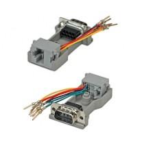 Kabel Serial Adapter DB9 M to RJ 45 F, modular Adapter (12.03.7525)