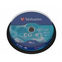 CDR Verbatim 80 min, spindl 10 kom (43437)
