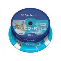 CDR Verbatim 80 min 52x, Printable (43439, 43309)