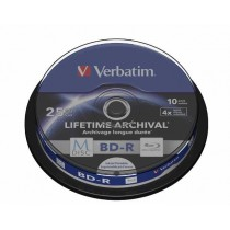 M Disc BD-R Verbatim SL 25GB 4× Printable 10 pack spindle (Single Layer) (43825)