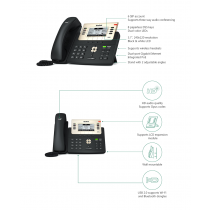 Yealink SIP-T27G, IP Phone, PoE in, tamno siva, 12mj
