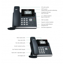 Yealink SIP-T41P/S, IP Phone, PoE in, tamno siva, 12mj